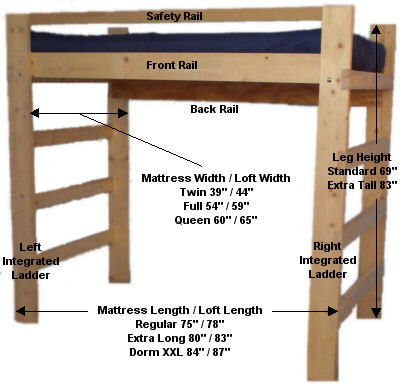 Wooden College Loft Bed Assembly Instructions More Than A Furniture Store