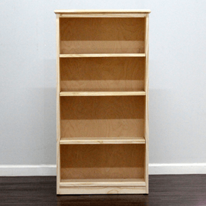 Solid Wood Unfinished Bookcase