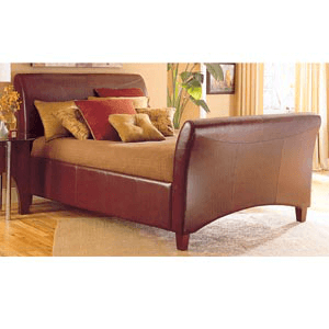 Leather Style Bed