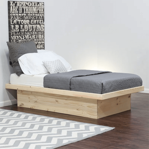 Solid Wood Twin Or Full Size Delvale Platform Bed