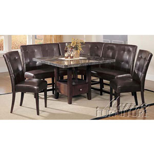 6-Pc Danville Marble Top Dining Set 0280/2/3/7054 (A)
