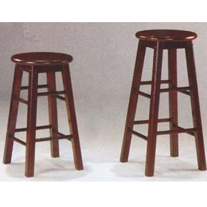 Antique Walnut Bar Stool 9426_(WSW)