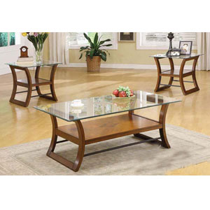 Bridge 3-Pc Coffee/End Table Set 10018/19GL (A) - More Than A ...