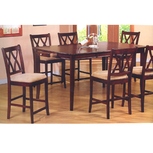 pc counter height dining set 100408 09 co more then a furniture