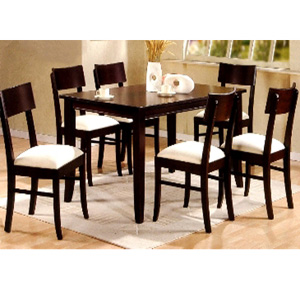 7-Pc Cappuccino Dining Set 100461/62 (CO)