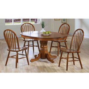 5-Pc Medium Oak Dinette Set 1004-25/05 (WD)