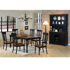 7 Pc. Classic Country Black/Pine Dining Set 100591/2/3 (CO)