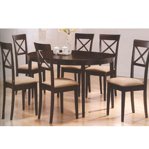 7-Pc Cappuccino Dining Set 100770/100774 (CO)