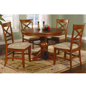 5 Pc. Walnut Finish Dinette Set 101281/2 (CO)