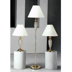 3-Pc Brass Plated Metal Base Lamps 1153 (CO)