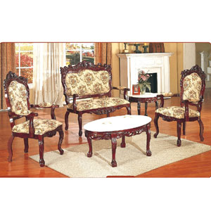 3 Pcs. Hand Carved Occasional Chair Set 115/116LB (SB)