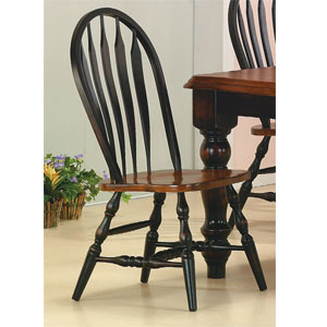 Antique Black/Cherry Windsor Chair 1201-06 (WD)