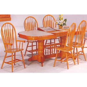 5-Pc Oak Finish Dining Set 1215-88/08 (WD)