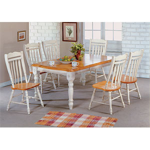 Antique White/Light Oak Dinette Set 1217-422/042 (WD)