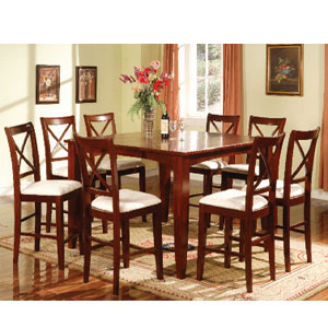 7-Pc Cherry Finish Counter Height Dining Set 1249-T/ST