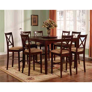 7-Pc Espresso Counter Height Dining Set 1300-54/24 (WD)