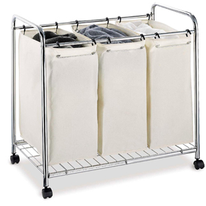 3 Section Laundry Sorter in Chrome Finish 1763(OI)