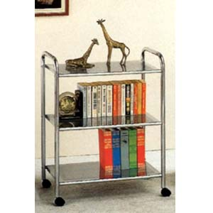 3 Tier Bookcase in Chrome 2099 (CO)
