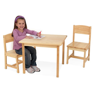3-Pc Aspen Table And Chair Set 212_(KK)