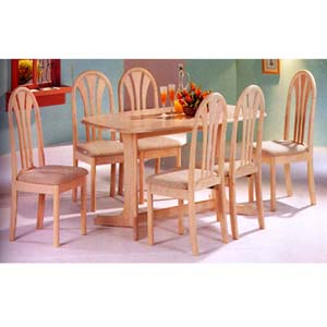 7-Piece White Washed Finish Dinette Set 1905 (P)