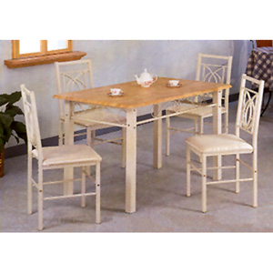 5-Pc Ivory White Metal Dining Set 2350 (CO)