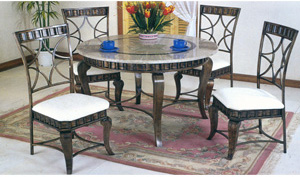 5-Piece Marble Top Dinette Set 2400T/C (PJ)