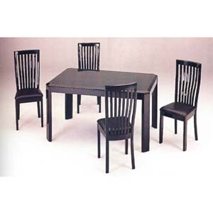 5-Piece Hi-Lacquered Green Finish Dinette Set 2480S (A)