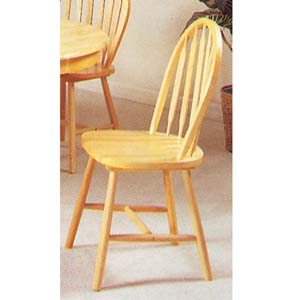 Natural Finish Arrow Back Windsor Chair