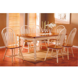 5 PC Pleasantville Buttermilk And Oak Dinette Set 2527/3527