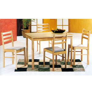 5-Piece Solid Wood Dinette Set 2615 (Au)