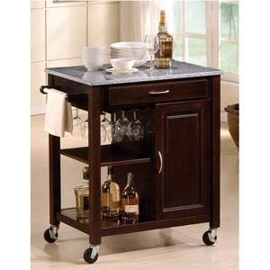 Genial Eden Granite Top Kitchen Cart 2696 (A)