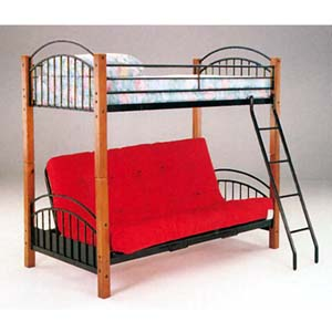 Wood Metal Bunk Bed 2776 A More Than A Furniture Store