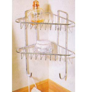 2-Tier Chrome Shower Organizer 2909 (PJ)