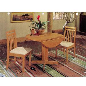Delicieux 3 Pc Drop Leaf Table Set 298_(A)