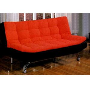 Red and Black Futon Sofa/Bed CM2574(IEM)