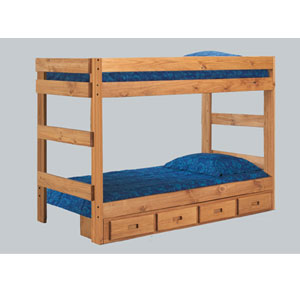 Twin or Full One-Piece Bunk Bed 3011_(PCf)