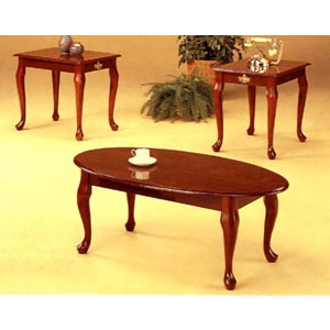 3-Pc Walnut Finish Coffee And End Table Set 3116 (CO)
