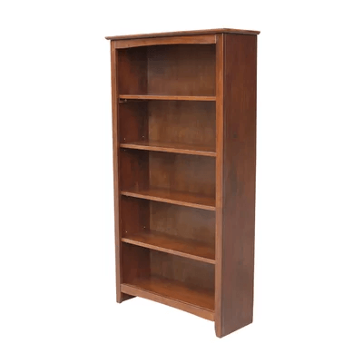 Solid Wood Interior County Standard Bookcase (Multiple Colors And Sizes)