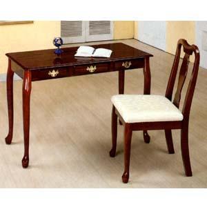 2 Pc Cherry Finish Secretary Desk Amp Matching Chair 3270