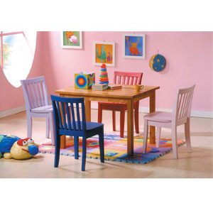 5-Pc Newport Multicolor Table And Chair Set 4002 (A)