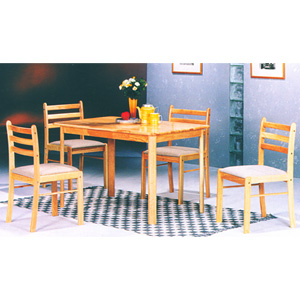 5-Pc All Natural Solid Wood Dinette Set 4005 (PJ)