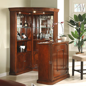 Genial 3pc Yorkshire Corner Wine Cabinet With Stand 40100(ML)