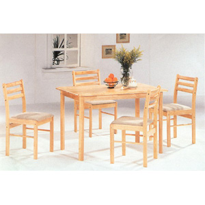 5-Pc Dinette Set In Natural Finish 4020 (CO)