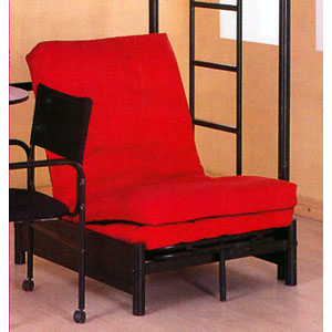 Tri Fold Black Futon Chair 4029 Ml