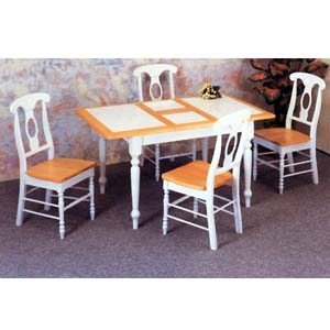 5-Pc Natural/White Dining Set 4098-117 (CO)