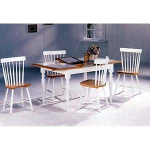 5-Pc Natural/White Dining Set 4098-17 (CO)
