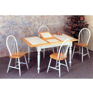 5-Pc Natural/ White Dining Set 4098-29 (CO)