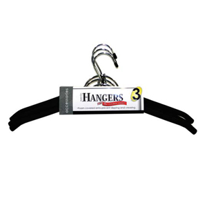 3 Pk. Foam and Chrome Add-On Hanger 4143 (KDY)