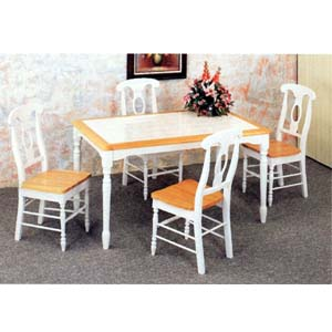 5-Pc Dinette Set In Natural/White Finish 4145-117 (CO)