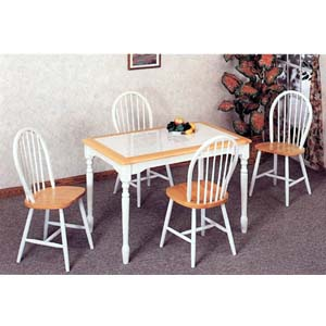 5-Pc Dinette Set In Natural/White Finish 4145/4129 (CO)